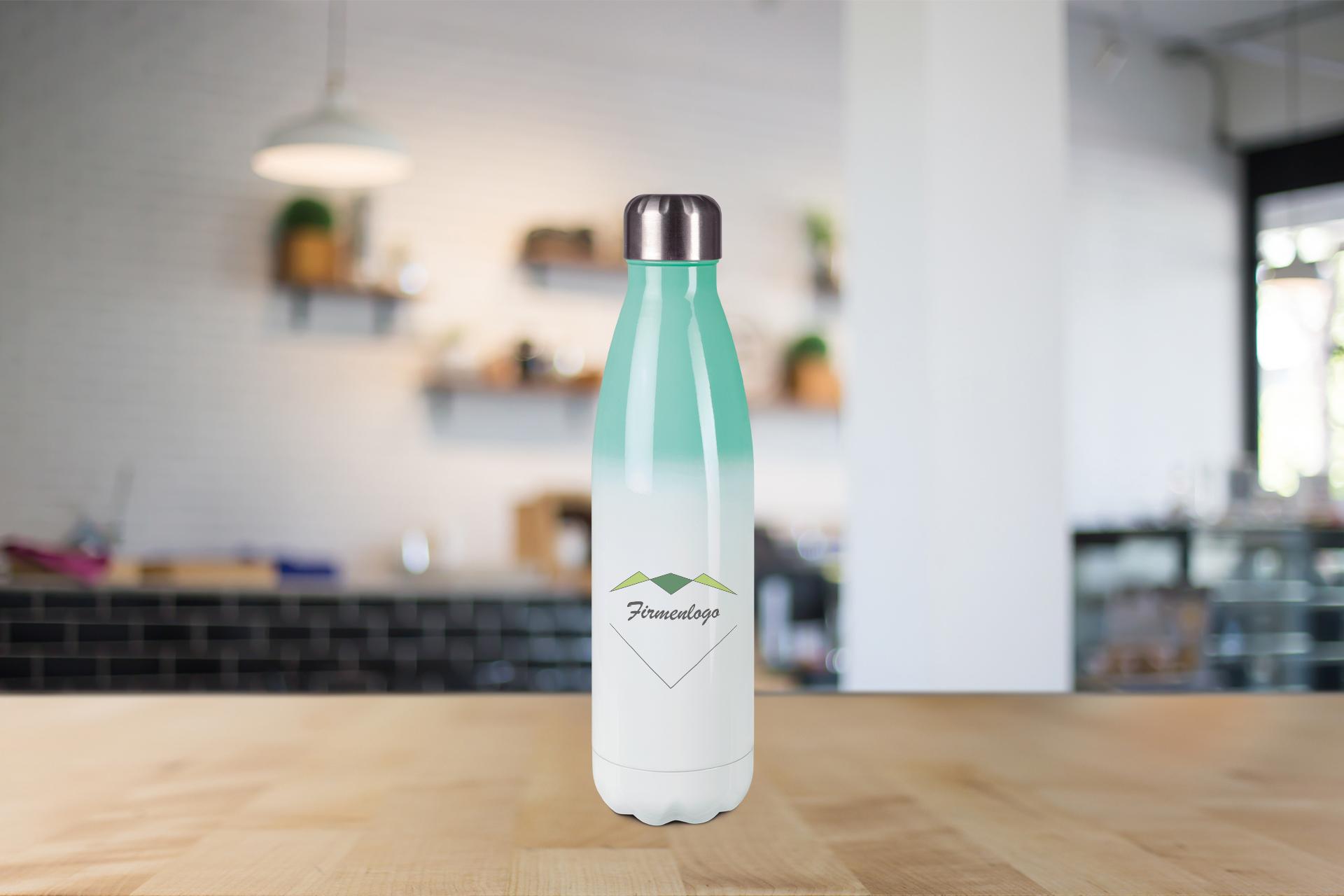 Edelstahl-Thermoflasche, 500 ml, in mehreren farben