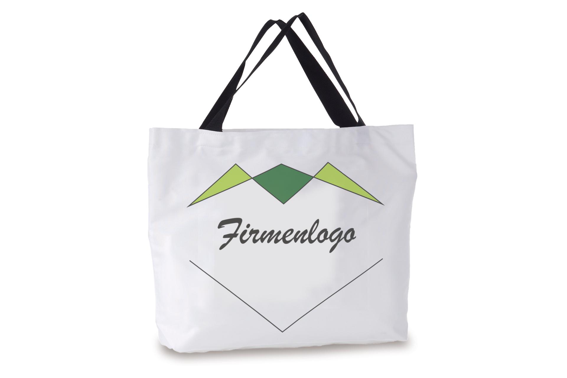 Shopper/Strandtasche, mit schwarzem Henkel