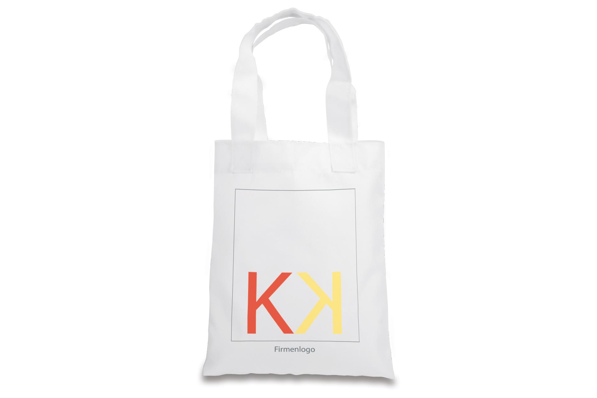 Einkaufstasche, 20 x 25 cm, weiß mit Henkel